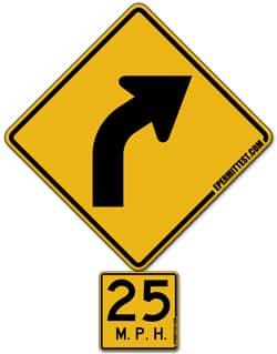 right-curve-advisory-speed