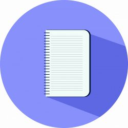 Note book, illustration, vector on a white background.